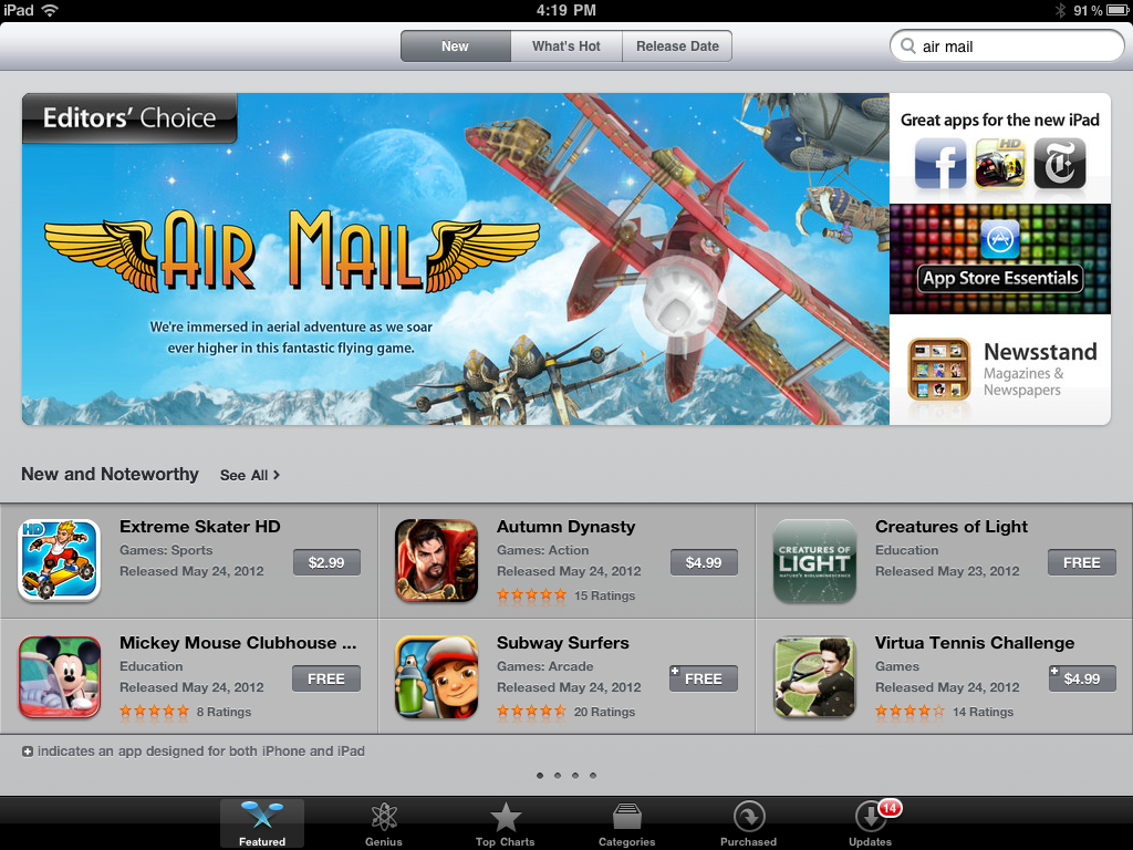 Air Mail Is Editor's Choice